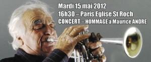 Concert Hommage à Maurice André – Mardi 15 mai à 16h30 Paris Eglise St Roch