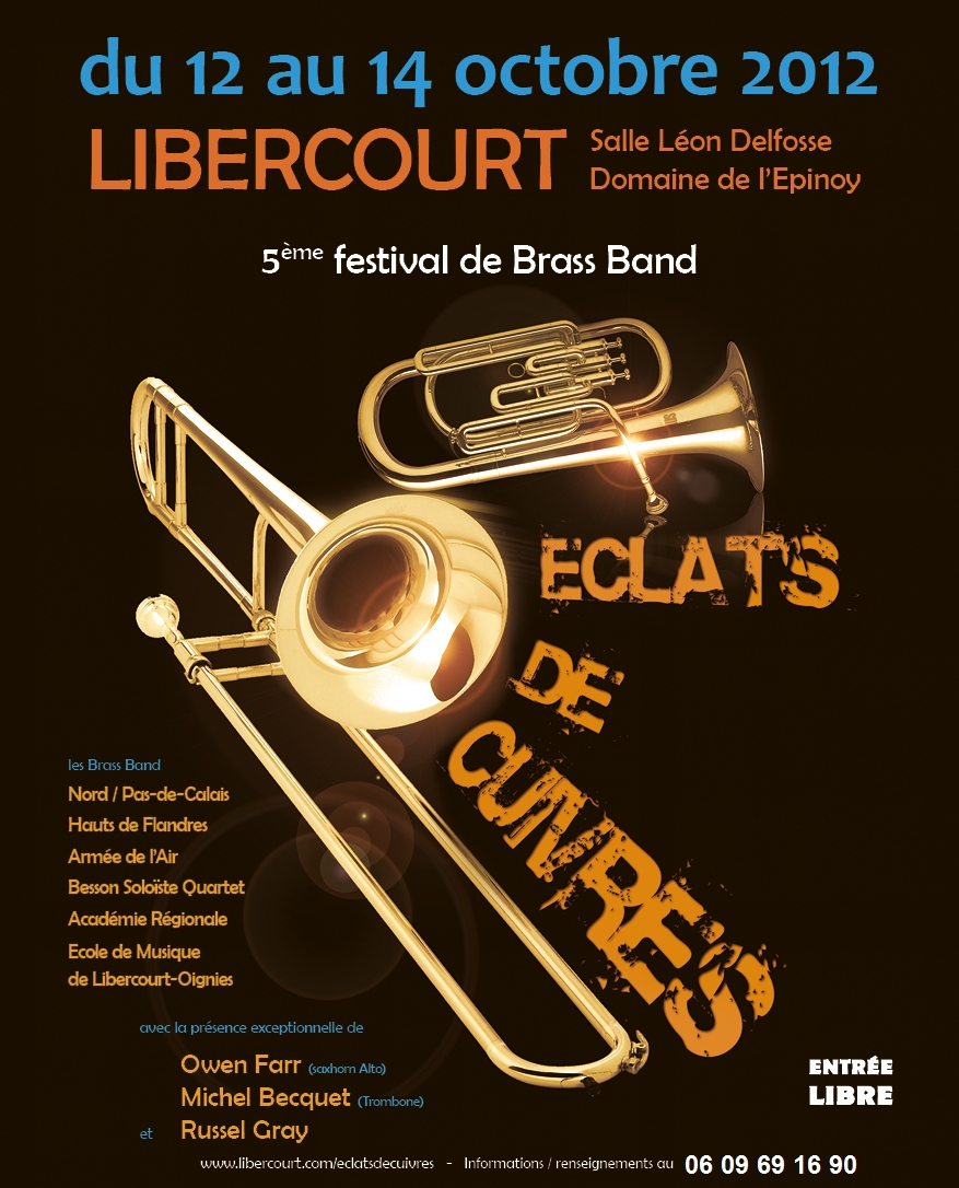 5ème édition du festival Éclats de Cuivres du 12 au 14 Octobre.