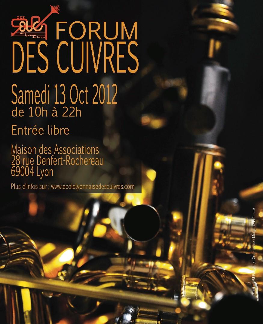 L'Ecole Lyonnaise des Cuivres vous invite au Forum des Cuivres le samedi 13 octobre