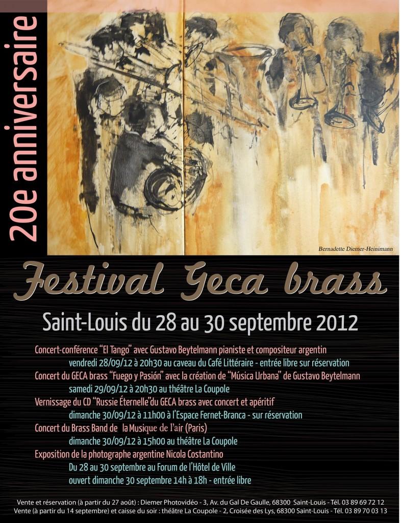 Festival GECA Brass du 28 au 30 septembre 2012