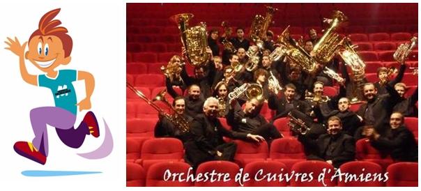 """Concert de l'Orchestre de Cuivres d'Amiens - Direction Nicolas MENPIOT Espace Gambier """"Marais aux Boeufs"""" à Camon (80) dans le cadre des Virades de l'Espoir """"Vaincre la Mucoviscidose"""""""