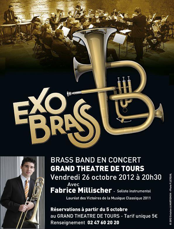 ExoBrass et Fabrice Millischer au grand théâtre de Tours le 26 Octobre 2012