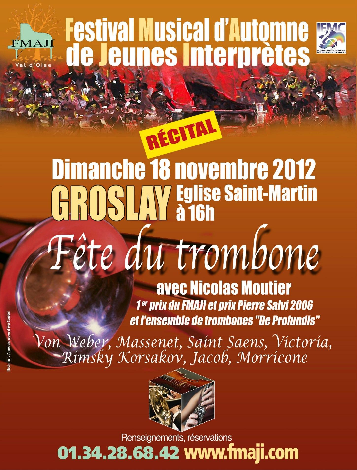 Fête du trombone à Groslay (95) le 18 Novembre 2012