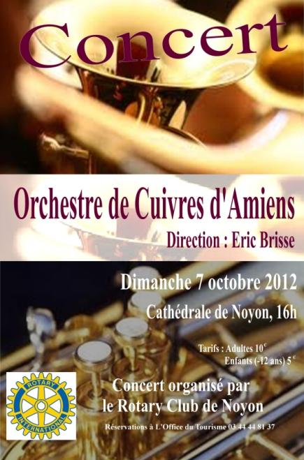 L'Orchestre de Cuivres d'Amiens en concert à Noyon le 07 Octobre