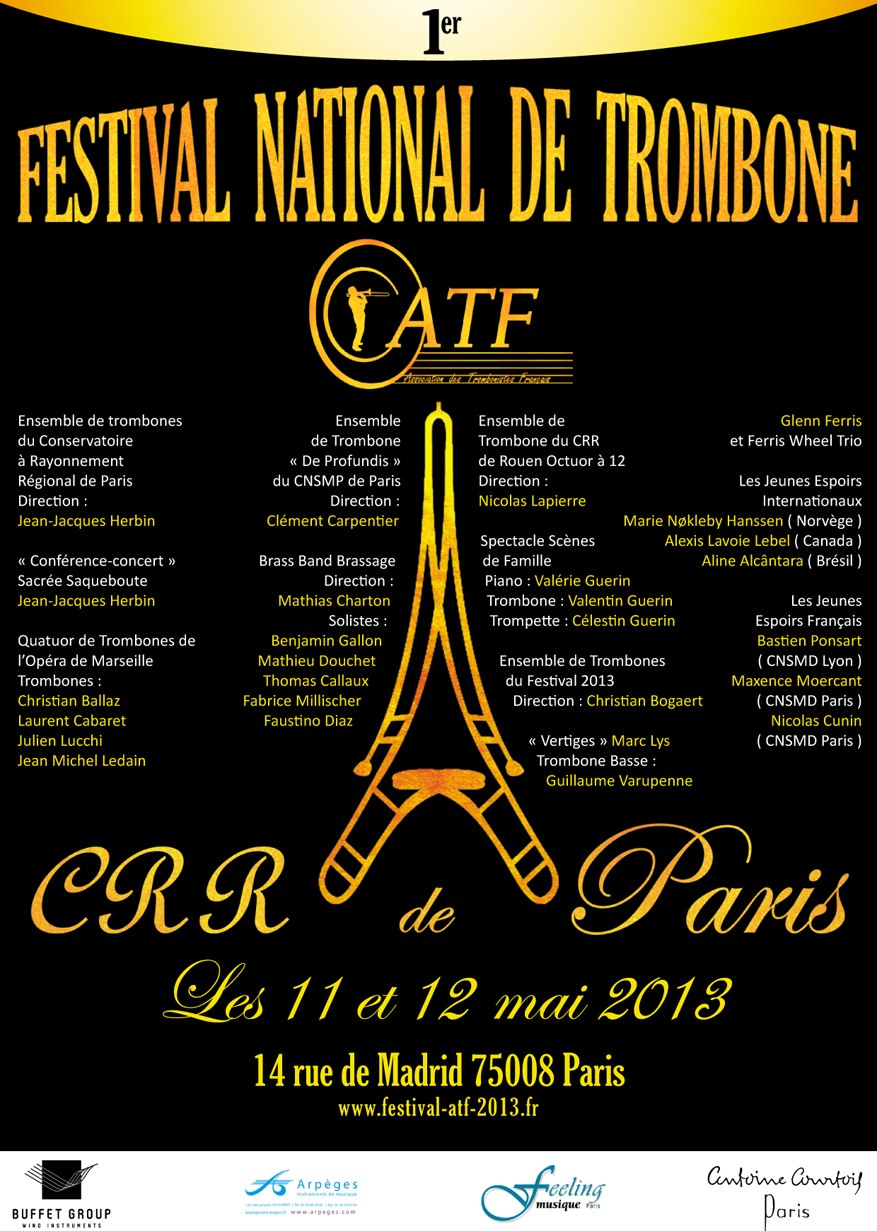 Festival National de Trombone 2013 au CRR de Paris