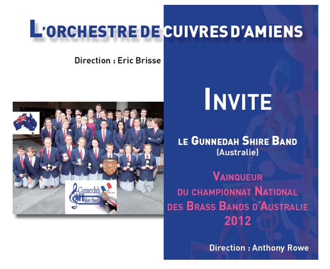 l'OCA invite Le Gunnedah Shire Band (Brass Band Australien)