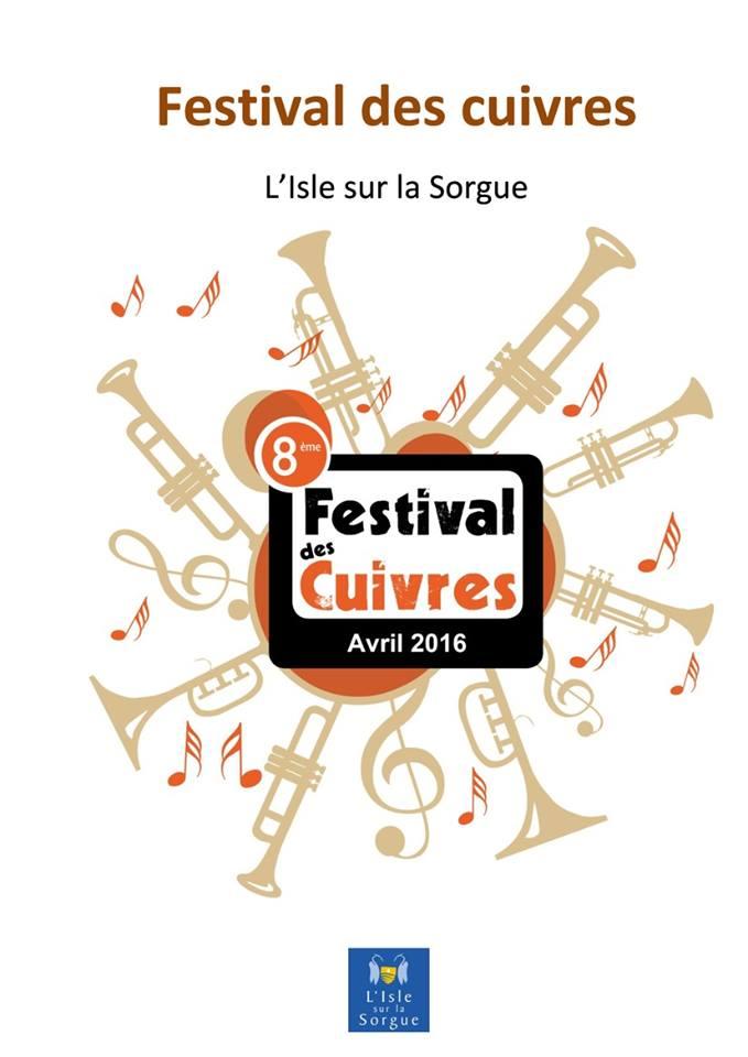 Festival des cuivres 2016 à L'Isle sur la Sorgue