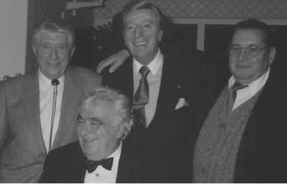 Réunion de famille Roger Delmotte, Georges Jouvin, Marcel Lagorce et Maurice André